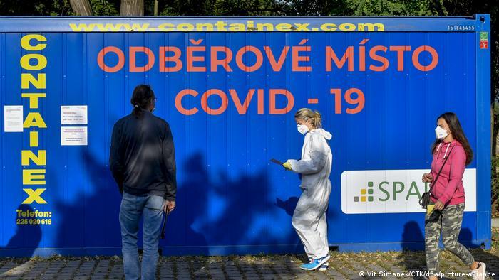 Тестирование на коронавирус в Праге
