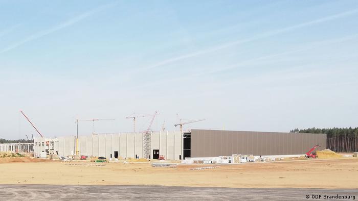 Tesla Gigafactory construction site near Grünheide, Germany