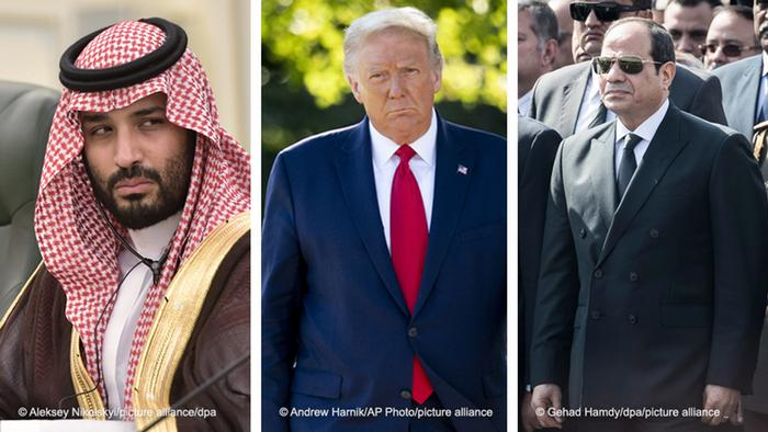 Mohammed bin Salman, Donald Trump and Abdel Fattah al-Sisi