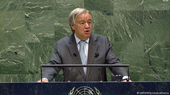 USA I UN-Generalversammlung I Antonio Guterres (UNTV/AP/picture-alliance)