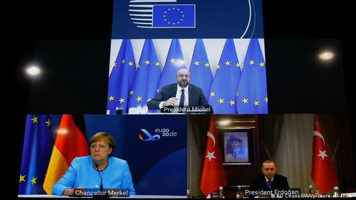 Videokonferenz zwischen Merkel, Erdogan und Charles Michel