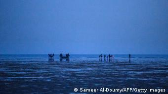 BdTD Frankreich Flüchtlinge vor dem Versuch den Ärmelkanal zu überqueren