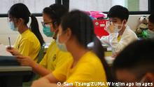 September 16, 2020, Hong Kong, CHINA: Students return to school at S.K.H. St. James Primary School in Wan Chai. Pupils are back to school for the first day, after the third wave of coronavirus infections subsides. 16SEP20 SCMP / Hong Kong CHINA - ZUMAs251 20200916_zin_s251_007 Copyright: xSamxTsangx