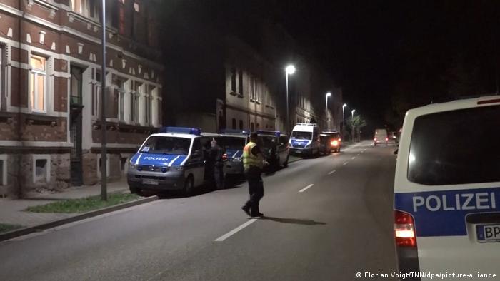 Police in the town of Weißenfels, Sachsen-Anhalt