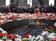 گرامیداشت یاد قربانیان قتلعام ارامنه در ایروان، در ارمنستان کنونی