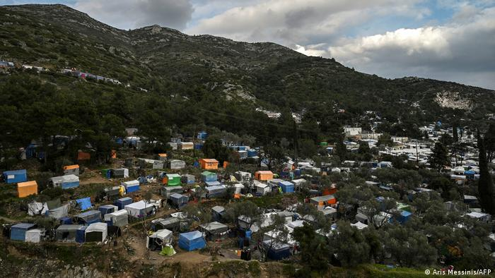 Settlement for displaced people on Samos