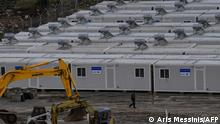 Camp construction site on Samos (Aris Messinis/AFP)