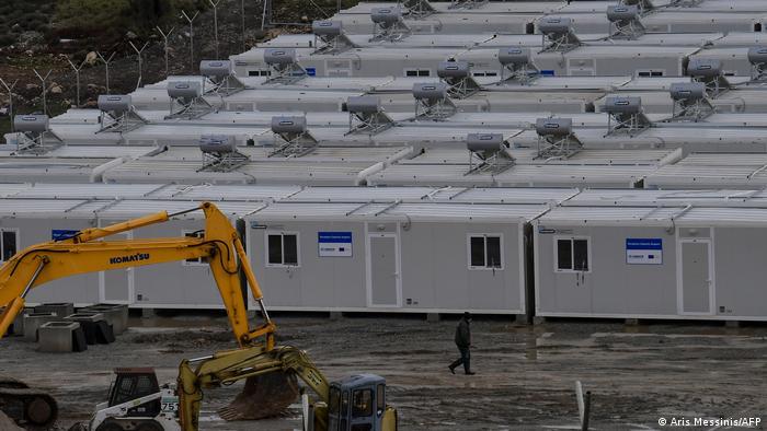 Camp construction site on Samos