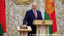 Alexander Lukashenko takes the oath of office