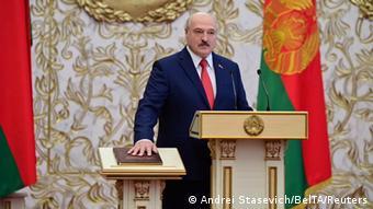 Belarus Vereidigung Präsident Lukaschenko - Alternativzuschnitt (Andrei Stasevich/BelTA/Reuters)
