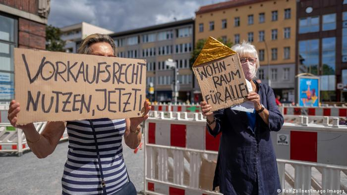 Demonstrators in Berlin