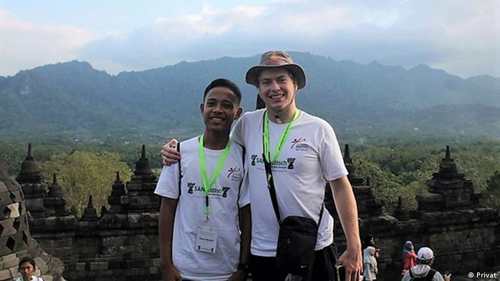 Indonesien | Rount Maulero Berfoto di Candi Borobudur, Oktober 2017 (Privat)