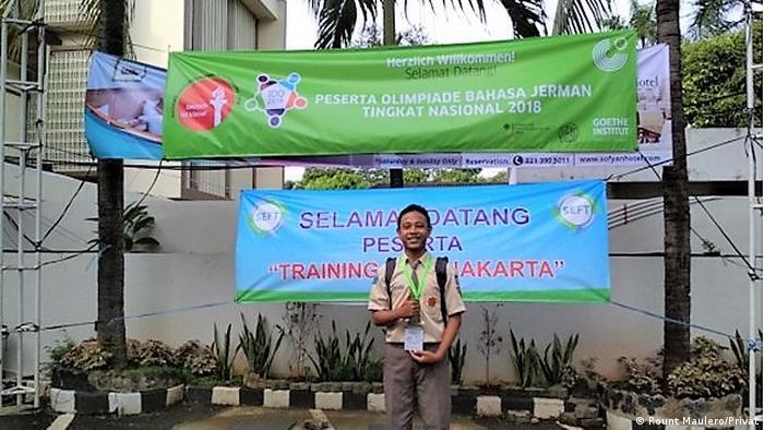 Indonesien | Rount Maulero di Olimpiade Bahasa Jerman di Hotel Sofyan, Jakarta, Januari 2018 (Rount Maulero/Privat)