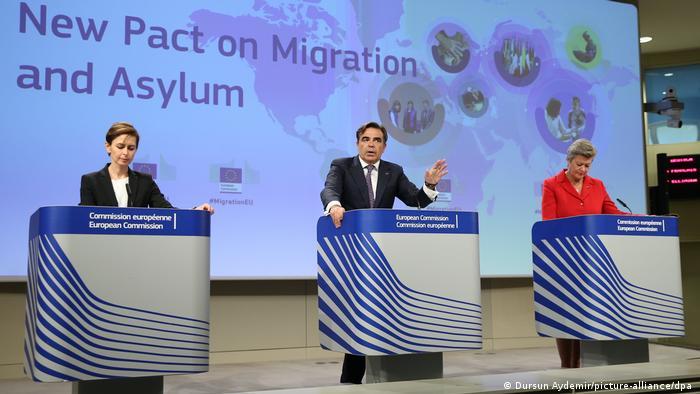 Belgien Brüssel | Pressekonferenz Migrationspakt | EU-Kommission (Dursun Aydemir/picture-alliance/dpa )