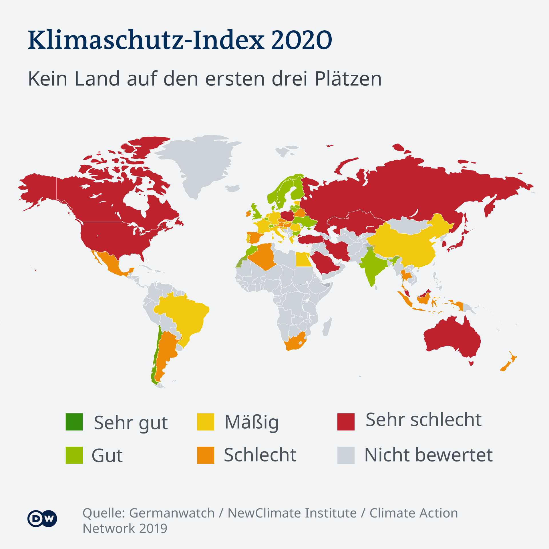 Infografik Karte Klimaschutz-Index 2020 DE