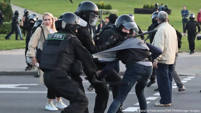 Задержания участников протестов в Минске