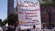 Kolumbien Demonstration gegen die Guerilla FARC