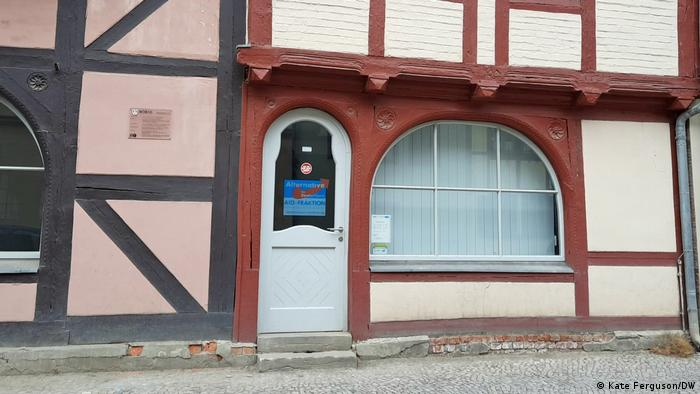 Picture of an AfD party office in the twon of Quedlinburg