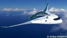 Airbus Konzeptflugzeug AirbusZEROe Blended Wing Body Concept