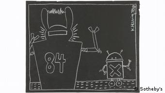 A work to be auctioned off during Keith Haring Sotheby's auction in New York (Sotheby's)