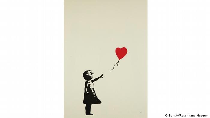 A print of A Girl with Balloon