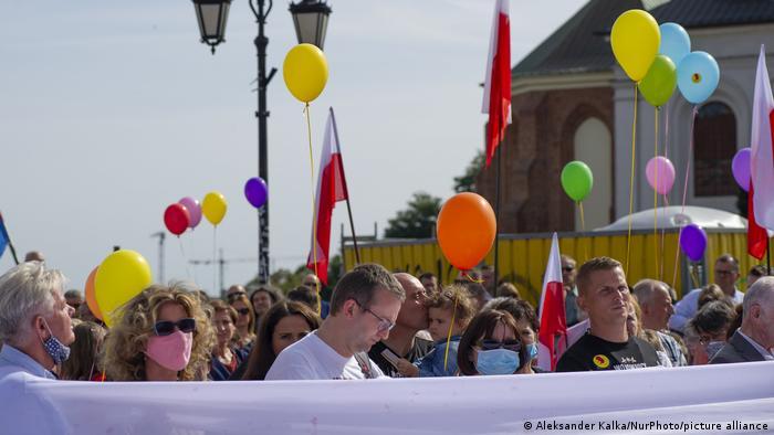Polen Warschau Protest von Lebensschützern gegen LGBT