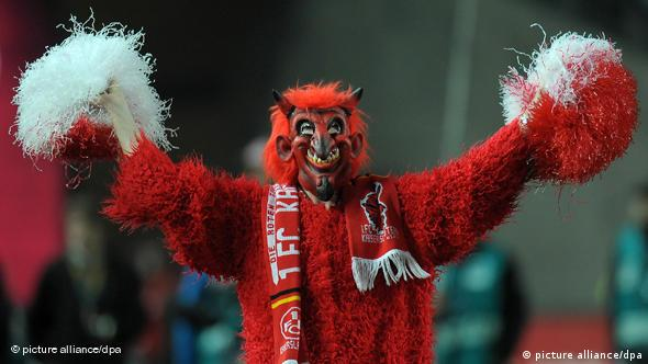 Kaiserslautern fan dressed up as red devil