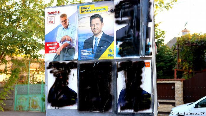 Wahlplakat (Cristian Stefanescu/DW)