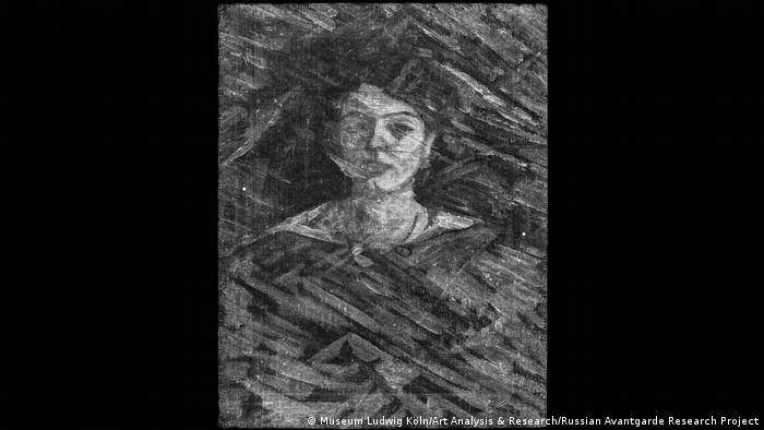 The X-ray of a portrait of a woman by Mikhail Larionov (Museum Ludwig Köln/Art Analysis & Research/Russian Avantgarde Research Project)