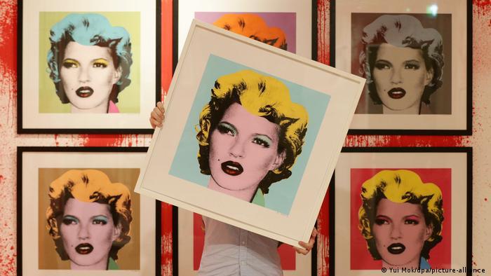 Портрет Кейт Мосс в стиле поп-арт