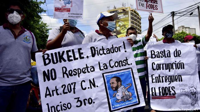 Protest in El Salvador (Marvin Recinos/AFP)