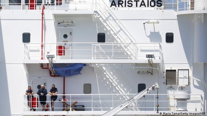 Gente de mar varada por la pandemia de coronavirus.