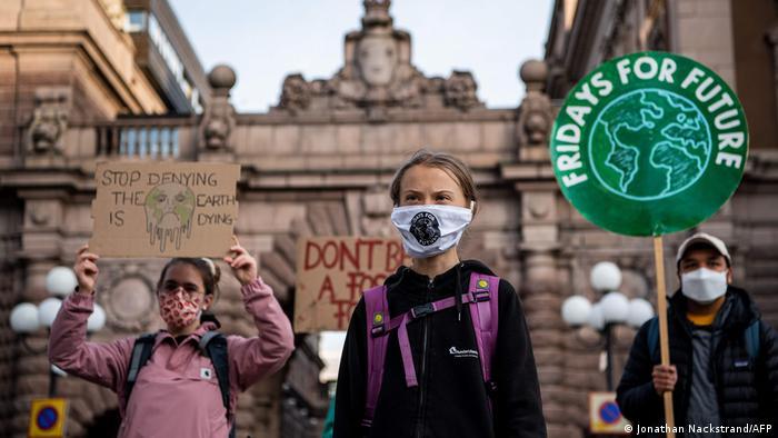 Klima-Proteste | Schweden Greta Thunberg (Jonathan Nackstrand/AFP)