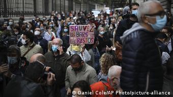 Протесты против закрытия ресторанов в Марселе, 25 сентября 2020 года