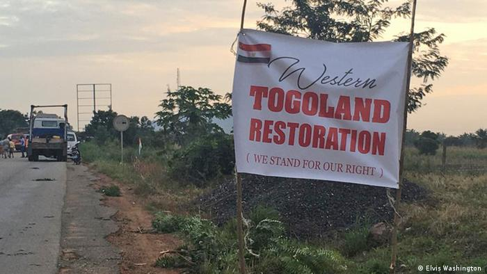 Signs signaling the start of Western Togoland in Ghana's Volta Region