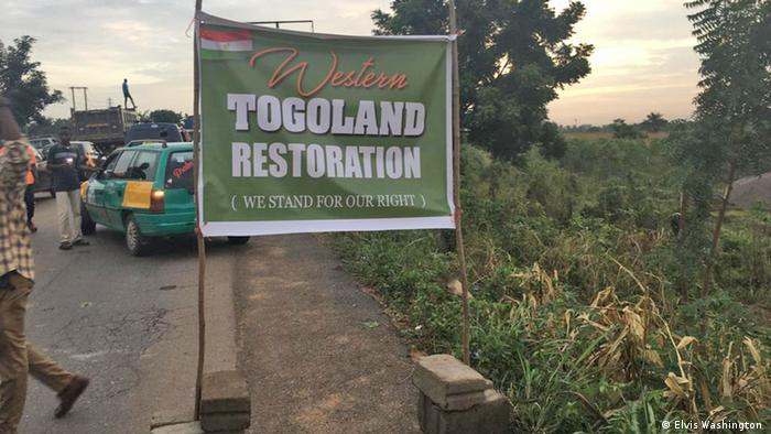 A sign marking the beginning of the Western Togoland region