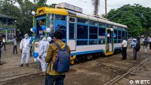 Straßenbahn-Bibliothek in Indien