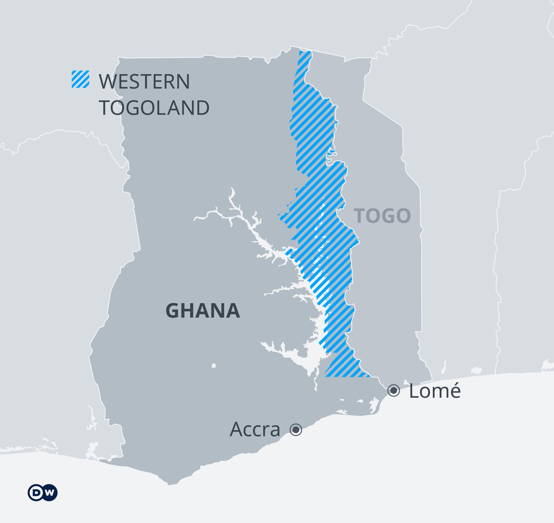 Karte Western Togoland EN