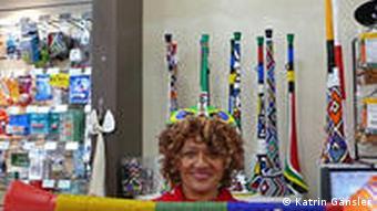 Eine besonders verzierte Vuvuzela Foto: Katrin Gänsler