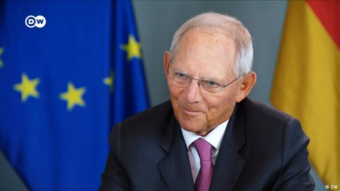 Screenshot DW Interview mit Wofgang Schäuble