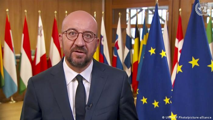 European Council President Charles Michel (UNTV/AP Photo/picture-alliance)