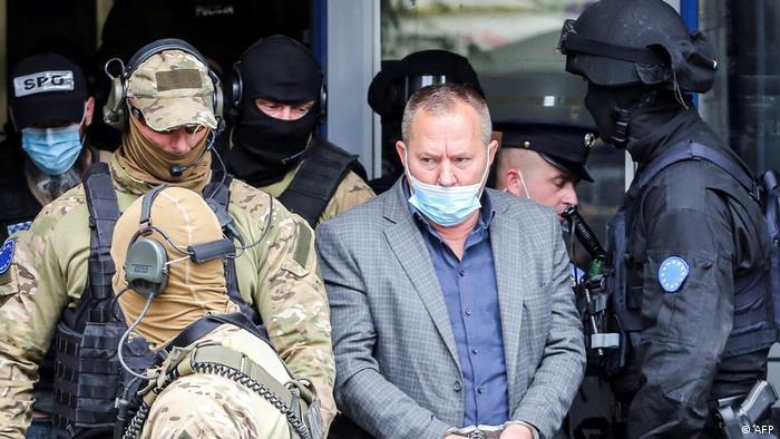 Hapšenje Hisnija Gucatija u septembru 2020. u Prištini