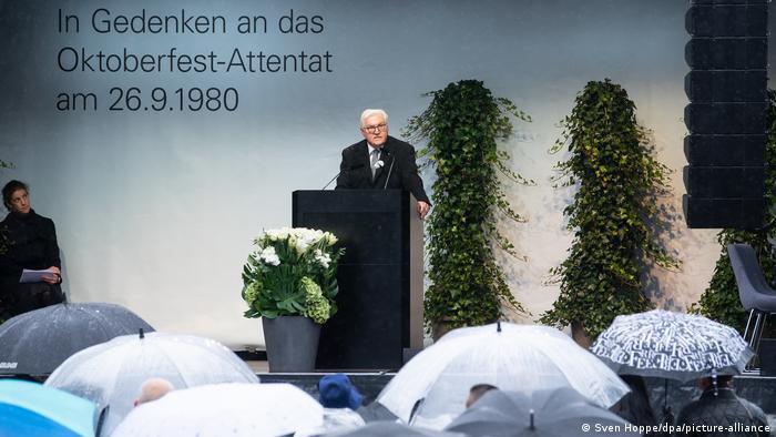 Deutschland l Gedenken zum Oktoberfest-Attentat in München, Bundespräsident Steinmeier (Sven Hoppe/dpa/picture-alliance)