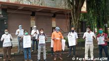 Indien Protest in Kalkutta gegen Belästigung muslimischer Lehrer