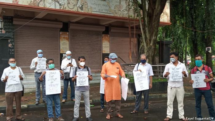 Indien Protest in Kalkutta gegen Belästigung muslimischer Lehrer (Payel Samanta/DW)