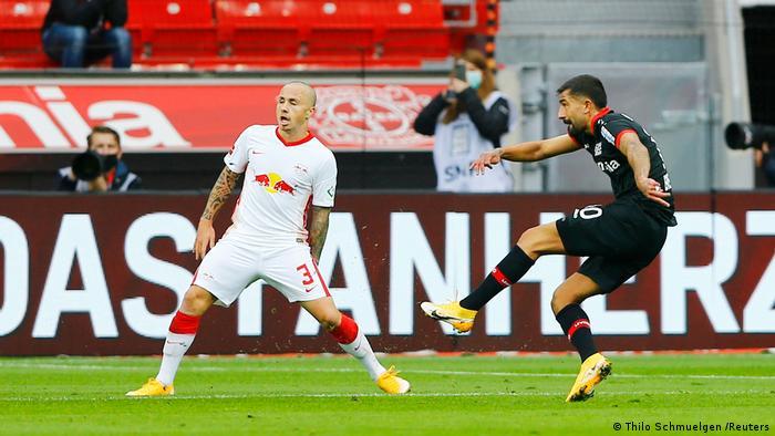 Fussball 1.Bundesliga 20/21 2.Spieltag l Leverkusen vs Leipzig TOR (Thilo Schmuelgen /Reuters)