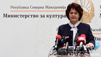 Nord-Mazedonien, Skopje I Kulturministerin Irena Stefoska