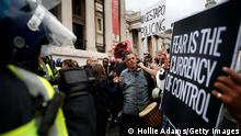 England I London I Anti-Corona Demonstration am Trafalgar Square