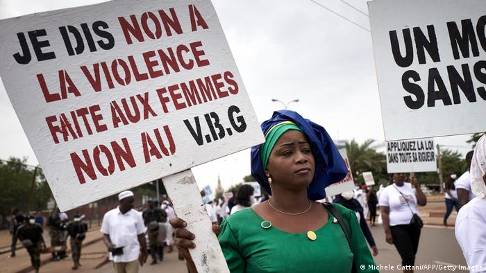 Women protest in Bamako, Mali