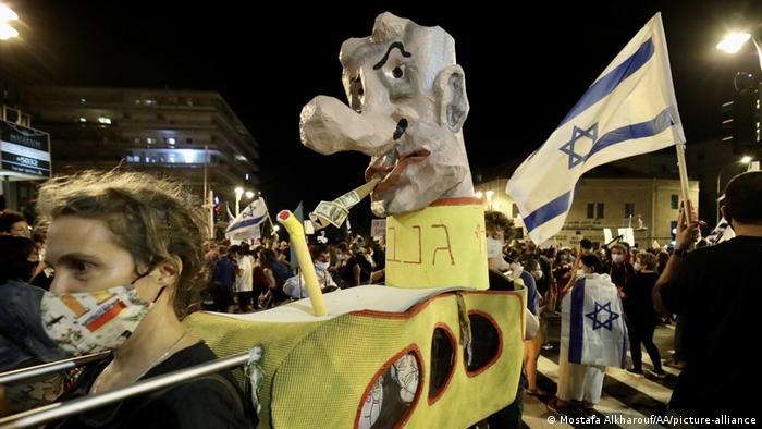 Anti-Netanyahu protest in Jerusalem (Mostafa Alkharouf/AA/picture-alliance)